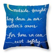 8x10 Dmb So Let Us Sleep Outside Tonight Throw Pillow