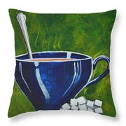 8x10 Tea Cup With Sugar Cubes Throw Pillow