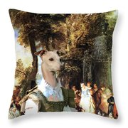 Italian Greyhound Art Canvas Print  Throw Pillow