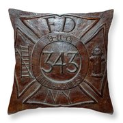9 11 01 F D N Y 343 Throw Pillow