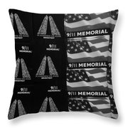 9/11 Memorial For Sale In Black And White Throw Pillow