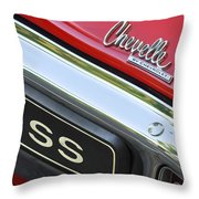 1970 Chevrolet Chevelle Ss Taillight Emblem Throw Pillow