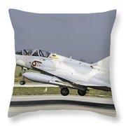 A Qatar Emiri Air Force Mirage Throw Pillow