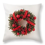 Advent Christmas Wreath  Throw Pillow