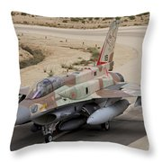 An F-16i Sufa Of The Israeli Air Force Throw Pillow