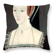 Anne Boleyn (1507-1536) Throw Pillow