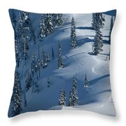 Backcountry Ski Traverse In Glacier Throw Pillow