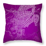 Cali Street Map - Cali Colombia Road Map Art On Colored Back Throw Pillow