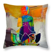Buddah On A Lotus Throw Pillow
