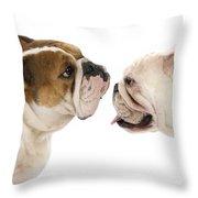 Bulldog Anglais Throw Pillow