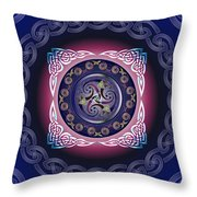 Celtic Pattern Throw Pillow