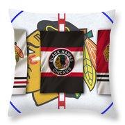 Chicago Blackhawks Throw Pillow