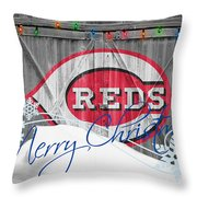 Cincinnati Reds Throw Pillow