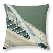 Fx1l-878 Main Street Bridge Columbus Ohio Photo Throw Pillow