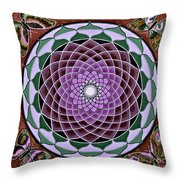 Cosmic Flower Mandala 6 Throw Pillow