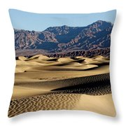 Death Valley Dunes Throw Pillow