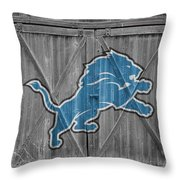 Detroit Lions Throw Pillow by Joe Hamilton
