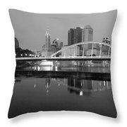 Downtown Skyline Of Columbus Ohio Throw Pillow