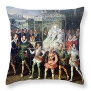 Elizabeth I  (1533-1603) Throw Pillow