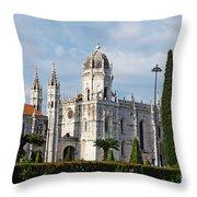 Hieronymites Monastery In Lisbon Throw Pillow