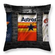 Houston Astros Throw Pillow