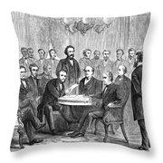 Johnson Impeachment, 1868 Throw Pillow