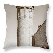 Lighthouse - Mackinac Point Michigan Throw Pillow