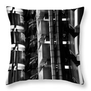 Lloyd's Building London Abstract  Throw Pillow
