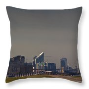 London City Airport Throw Pillow