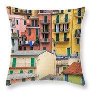 Manarola Throw Pillow by Joana Kruse