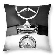 Mercedes-benz Hood Ornament Throw Pillow