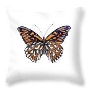 9 Mexican Silver Spot Butterfly Throw Pillow