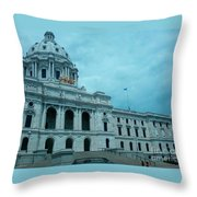 Minnesota State Capitol Throw Pillow