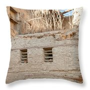 Mud Brick Village Throw Pillow