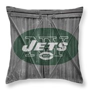 New York Jets Throw Pillow
