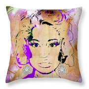 Nicki Minaj Diamond Earring Collection Throw Pillow
