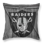 Oakland Raiders Throw Pillow by Joe Hamilton