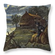 Paul Reveres Ride Throw Pillow