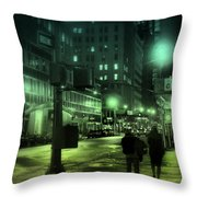 9 P M In The City Throw Pillow