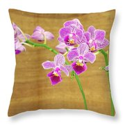 Purple Orchid-12 Throw Pillow