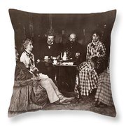 Richard Wagner (1813-1883) Throw Pillow