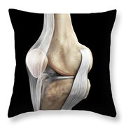 Right Knee Ligaments Throw Pillow