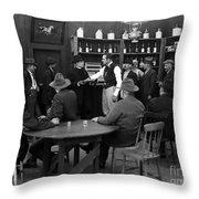 Silent Film Still: Drinking Throw Pillow
