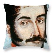 Simon Bolivar (1783-1830) Throw Pillow