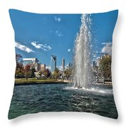Skyline Of Uptown Charlotte North Carolina Throw Pillow