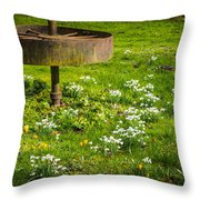 Snowdrop Woods Throw Pillow