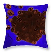 Tem Of Baculovirus Throw Pillow