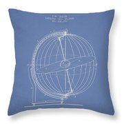 Terrestro Sidereal Globe Patent Drawing From 1886 Throw Pillow