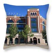 Texas Rangers Ballpark In Arlington Throw Pillow