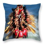 The 2013 Dragon Boat Festival In Kaohsiung Taiwan Throw Pillow